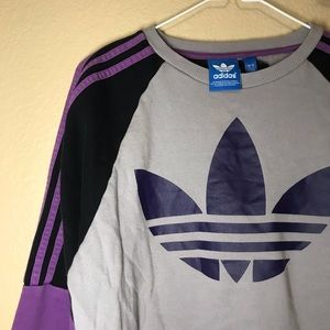 Small Adidas Gray Purple Crewneck